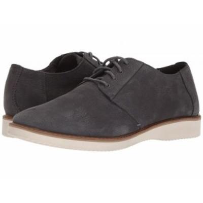 TOMS トムス メンズ 男性用 シューズ 靴 オックスフォード 紳士靴 通勤靴 Preston Forged Iron Grey Nubuck【送料無料】