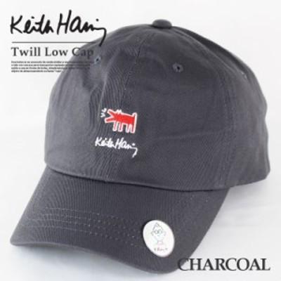 ロゴ ツイル キャップ ベースボールキャップ キースへリング メンズ ローキャップ レディース 帽子 男女兼用 誕生日 プレゼント
