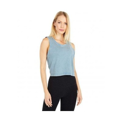 Beyond Yoga ビヨンドヨガ レディース 女性用 ファッション トップス シャツ Don't Distress Balance Cropped Tank - Stormy Blue Garment Dye