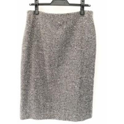 セリーヌ CELINE スカート サイズ42 L レディース 美品 黒×アイボリー【中古】20200626