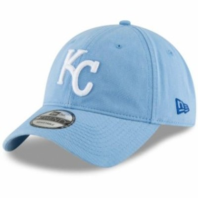 New Era ニュー エラ スポーツ用品  New Era Kansas City Royals Light Blue Core Classic Secondary 9TWENTY Adjustable Hat