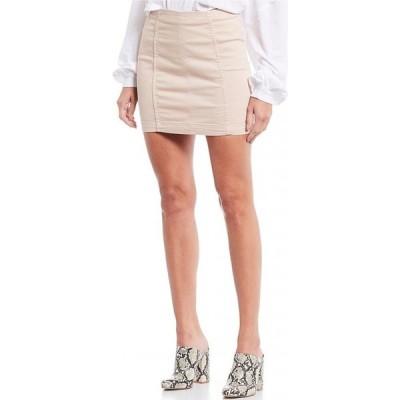 フリーピープル Free People レディース ミニスカート デニム スカート We the Free Denim Modern Femme Mini Skirt Stone