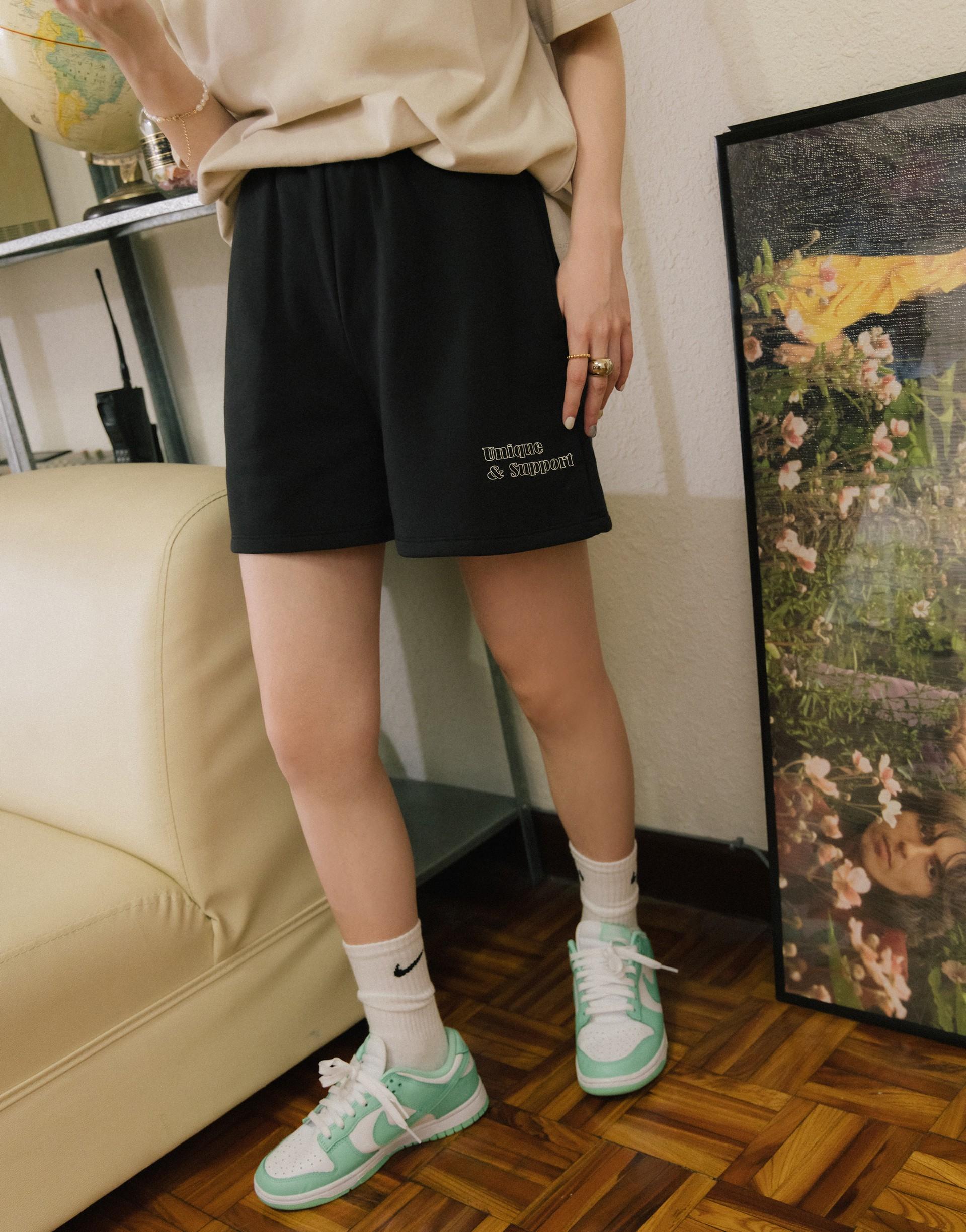 MIT LOGO印花短棉褲-PAZZO