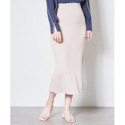 【WEB限定カラー有り】抗菌加工便利なリブニットスカート