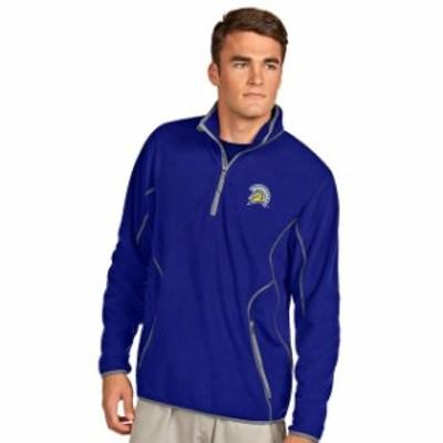 Antigua アンティグア スポーツ用品  Antigua San Jose State Spartans Royal Ice Quarter-Zip Jacket
