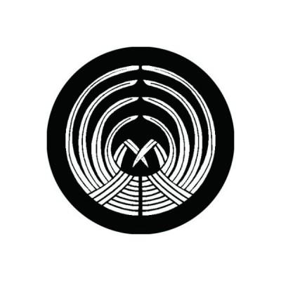 家紋シール 白紋黒地 抱き稲の苗 布タイプ 直径40mm 6枚セット NS4-2849W