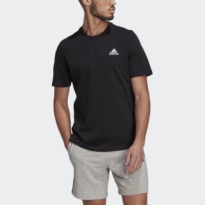 アディダス adidas エッセンシャルズ エンブロイダード スモールロゴ 半袖Tシャツ / Essentials Embroidered Small Logo Tee (ブラック)
