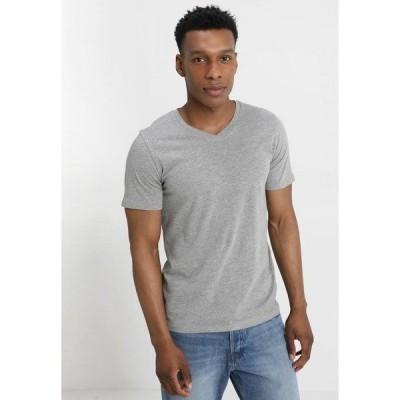 ジャック アンド ジョーンズ Tシャツ メンズ トップス JJEPLAIN  - Basic T-shirt - light grey melange