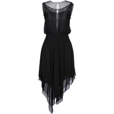 カールラガーフェルド KARL LAGERFELD 7分丈ワンピース・ドレス ブラック 40 シルク 100% 7分丈ワンピース・ドレス