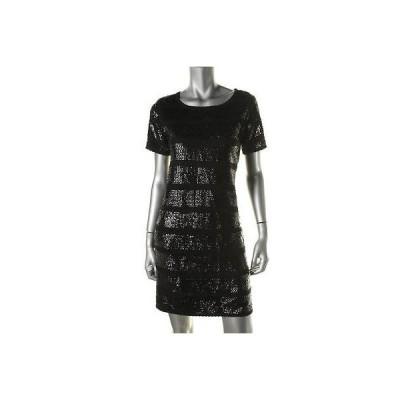 キャサリンマランドリーノ ドレス ワンピース キャットherine Malandrino 4387 レディース ブラック ニット 半袖s Clubwear ドレス M BHFO