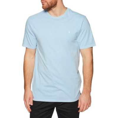 ボルコム Volcom メンズ Tシャツ トップス solid stone emblem short sleeve t-shirt Aether Blue