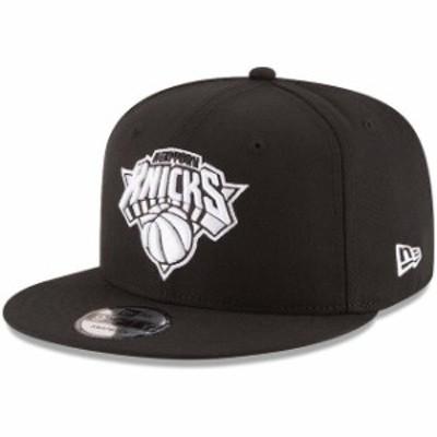New Era ニュー エラ スポーツ用品  New Era New York Knicks Black Black & White Logo 9FIFTY Adjustable Snapback Hat