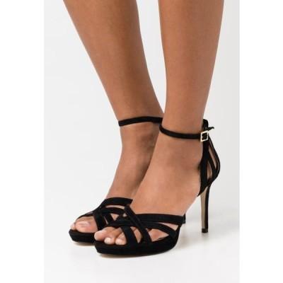 アンナフィールド レディース サンダル LEATHER - High heeled sandals - black