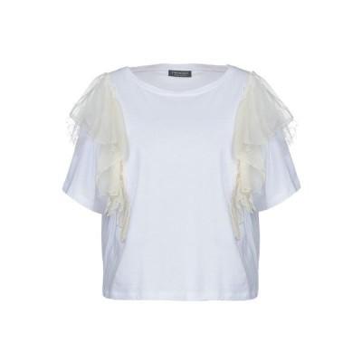 TWINSET Tシャツ  レディースファッション  トップス  Tシャツ、カットソー  半袖 ホワイト
