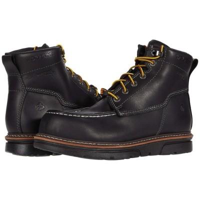 ウルヴァリン Wolverine メンズ ブーツ ワークブーツ シューズ・靴 I-90 DuraShocks Moc-Toe CarbonMAX 6' Work Boot Black