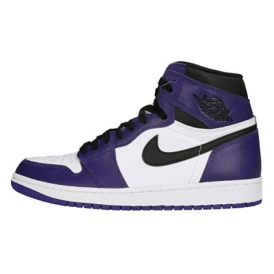 ナイキ NIKE AIR JORDAN 1 RETRO HIGH OG COURT PURPLE 555088-500 28cm エアジョーダン1スニーカー HJ12 中古