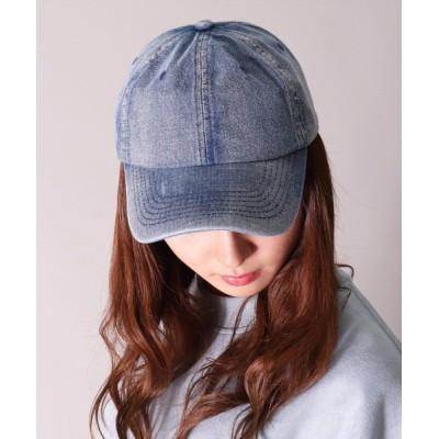 BAYBLO / 【ユニセックス】デニム フェード ウォッシュ ベースボール キャップ(CR) WOMEN 帽子 > キャップ