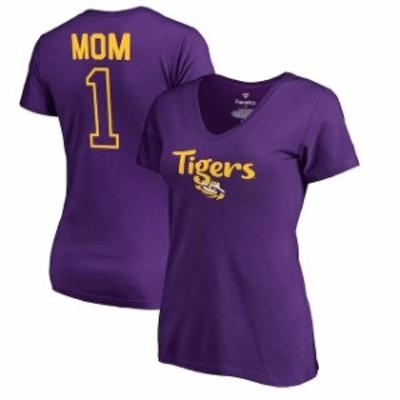 Fanatics Branded ファナティクス ブランド スポーツ用品  Fanatics Branded LSU Tigers Womens Purple Number 1 Mom V