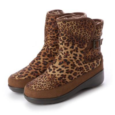 シューズラウンジ shoes lounge スノーブーツ 252114LEO (レオパード)