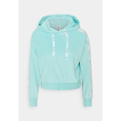 チャンピオン レディース パーカー・スウェットシャツ アウター HOODED - Sweatshirt - turquoise turquoise