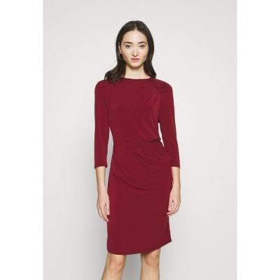 ヴェロモーダ ワンピース レディース トップス VMMELINDA DETAIL DRESS - Jersey dress - cabernet