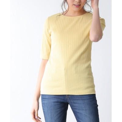 Honeys / 5分袖ボート衿Tシャツ WOMEN トップス > Tシャツ/カットソー