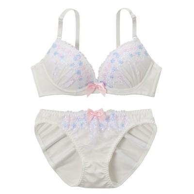 フェミニンブーケ ブラジャー。ショーツセット(B70/M) (ブラジャー&ショーツセット)Bras & Panties