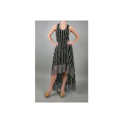 ドレス 海外セレクション T-Bags Los Angeles Hi-Lo Tank Dress W/ Metal Net Contrast in Black