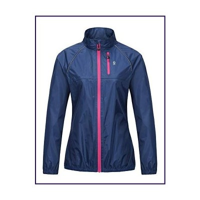 Little Donkey Andy Women's Lightweight Waterproof Cycling Running Rain Jacket, Packable Windbreaker Fall Jacket Navy Size XL【並行輸入