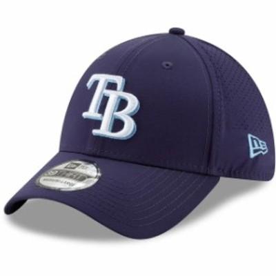 New Era ニュー エラ スポーツ用品  New Era Tampa Bay Rays Navy Perforated Play 39THIRTY Flex Hat
