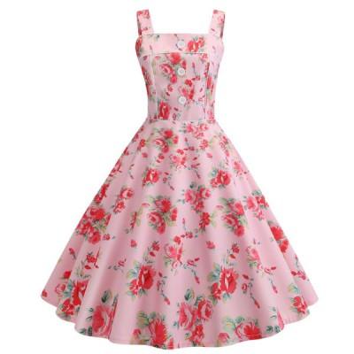 レディースロング丈ドレス 吊りワンピース ドレス フランス復古風ドレス大きい裾ワンピースビーチドレス ダンス衣装 団体服普段着 二枚送料無料