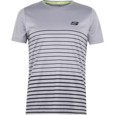 スケッチャーズ Skechers メンズ Tシャツ トップス Stripe T Shirt Grey