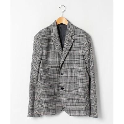 【アニエスベー】 CAC8 JACKET チェックジャケット メンズ ブラック 48(L) agnes b.