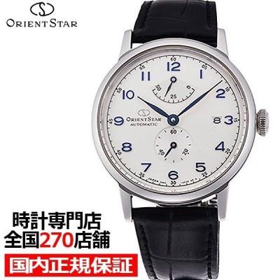 オリエントスター ヘリテイジゴシック RK-AW0004S メンズ 腕時計 自動巻き レザー ホワイト 機械式