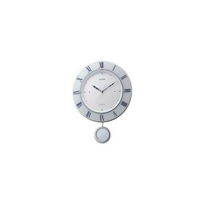 リズム時計 電波掛け時計 「トライメテオ」 8MX402SR03
