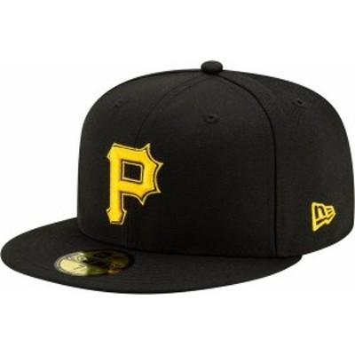 ニューエラ メンズ 帽子 アクセサリー New Era Men's Pittsburgh Pirates 59Fifty Black Fitted Hat