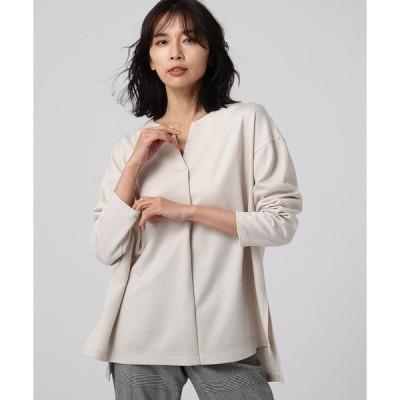 tシャツ Tシャツ 「L」【洗える】リリックポンチキーネックプルオーバー