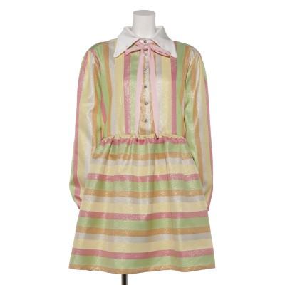 Rainbow Rays Mini Smock Dress