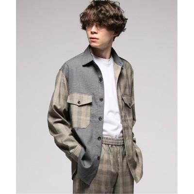【エディフィス】 CARREMAN / キャリーマン クレイジーCPOシャツ メンズ ベージュベース M EDIFICE