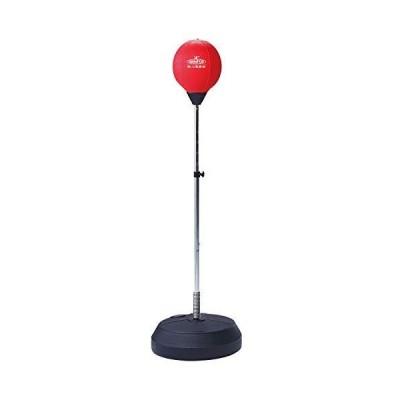 IRONMAN CLUB(鉄人倶楽部) パンチング ボール ボクササイズ トレーニング レッド 高さ調節可 約43x43x142cm IMC-88
