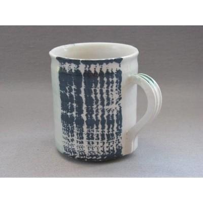 コーヒー マグ カップ 和陶器 和モダン /白磁呉須波マグ