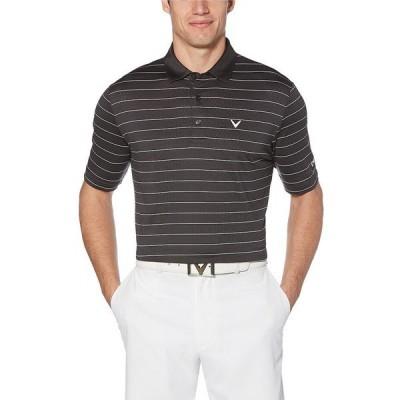 キャラウェイ メンズ シャツ トップス Short-Sleeve Vent Stripe OptiDri Golf Polo Asphalt