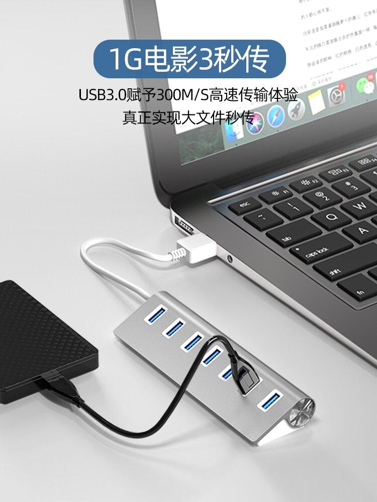 USB分線器 筆電電腦usb3.0擴展器插頭多口外接口長線帶電源拓展器台式插座桌面一拖四分線器打印機高速加長hub集線器 ye562