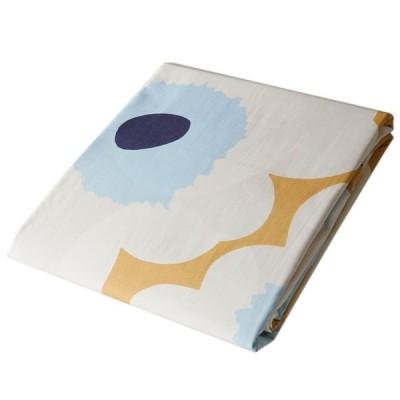 マリメッコ デュベカバー 掛け布団カバー シングル 150×210cm Unikko ウニッコ ベージュ×オフホワイト×ブルー 069080 815
