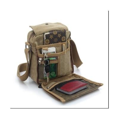 サコッシュバッグショルダーバッグ斜めがけ2way帆布通勤通学収納抜群ポケットいっぱいで使いやすいメール便