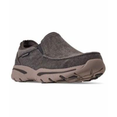 スケッチャーズ メンズ スニーカー シューズ Men's Creston Moseco Slip-On Casual Sneakers from Finish Line CHARCOAL