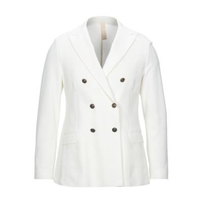 イレブンティ ELEVENTY テーラードジャケット ホワイト 48 コットン 74% / ナイロン 21% / ポリウレタン 5% テーラードジャ