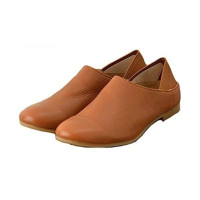 [レシピ] レディース バブーシュ スリッポン ローヒール 歩きやすい 疲れない ゴム付き 軽量 クッション性 美脚