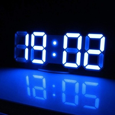 LEDデジタル時計 電子時計 目覚まし 多機能 温度計室内 ホーム カレンダー 壁掛け 置時計 おしゃれ 可愛い 明るさ調整 輝度調整可能