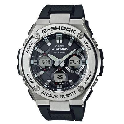 G-SHOCK Gショック G-STEEL Gスチール カシオ CASIO ソーラー アナデジ 腕時計 ブラック シルバー GST-S110-1A 逆輸入海外モデル